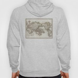 Vintage Map of The World (1832) Hoody