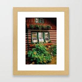 Cabin life Framed Art Print