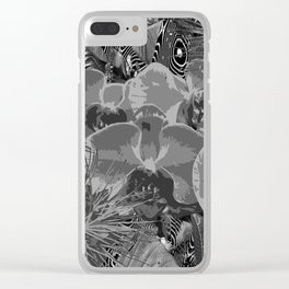 Tilted Tropics Clear iPhone Case