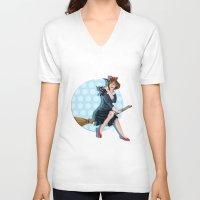 kiki V-neck T-shirts featuring Modern Kiki by Nicola Davies