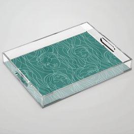 Green Ladies Acrylic Tray