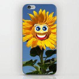 Sonnenblumenfrau und Sonnenblumenmann iPhone Skin