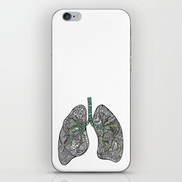 Blue & Green Lungs iPhone Skin