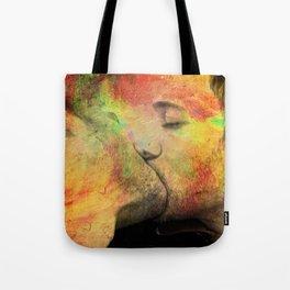 gay kiss Tote Bag