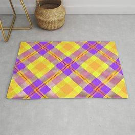 Purple, Yellow, & Orange Plaid Rug