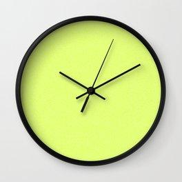 Dense Melange - White and Fluorescent Yellow Wall Clock