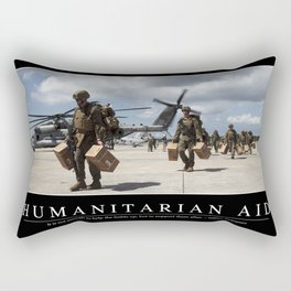 Humanitarian Aid: Inspirational Quote and Motivational Poster Rectangular Pillow
