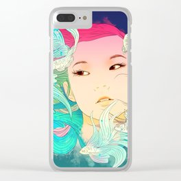 Fish Lady Clear iPhone Case