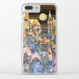 The Lunar City Clear iPhone Case