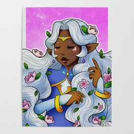 Allura flowers Poster