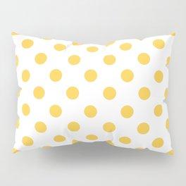 Polka Dots (Orange & White Pattern) Pillow Sham