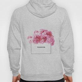 Fashion, Flowers, Pink, Modern, Minimal, Interior, Wall art Hoody