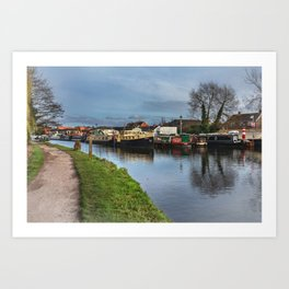 Boats On The Kennet Art Print
