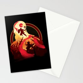 Kratos and Boy Stationery Cards