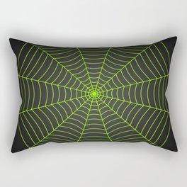 Neon green spider web Rectangular Pillow