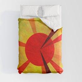 Gold Fuchsia Darkmagenta Sun Comforters
