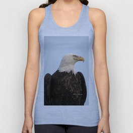 Bald Eagle on Watch along the Kenai River Unisex Tank Top