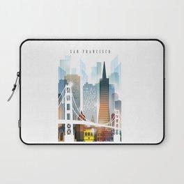 City of San Francisco painting Laptop Sleeve
