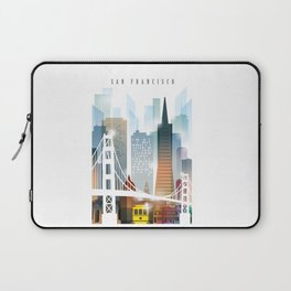 City of San Francisco painting Laptop Sleeve