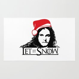 Let it Snow Santa Hat Christmas is Coming Rug