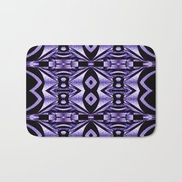 Stained Glass Collection V Lilac Levitations Bath Mat