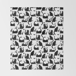 Bad Cats Knocking Stuff Over Throw Blanket