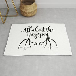 All about the wingspan white design Rug