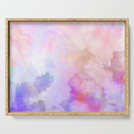 Pastel Clouds-Pink and Blue #homedecor Serving Tray