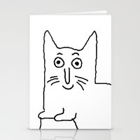 karl Stationery Cards featuring Karl & Choupette by cvrcak