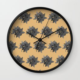 Tulip_Flora_Devoted Lily repeat patter Wall Clock