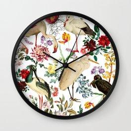 Long Legged Birds I Wall Clock