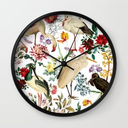 Long Legged Birds I Wall Clock