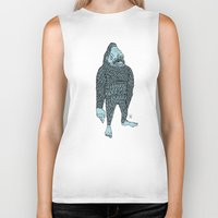bigfoot Biker Tanks featuring Bigfoot by Mason W