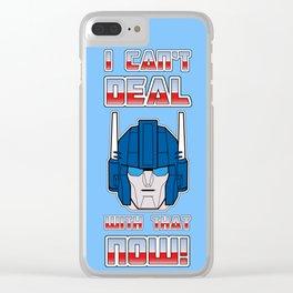 Ultra No! Phone case Clear iPhone Case