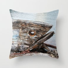 Fish Boat Throw Pillow