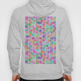 Modern bright multicolor watercolor triangles geometric pattern Hoody