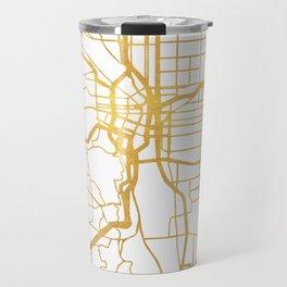 PORTLAND OREGON CITY STREET MAP ART Travel Mug