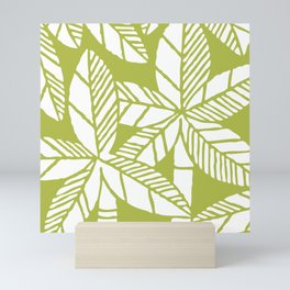 Tropical Palm Tree Composition Olive Green Mini Art Print