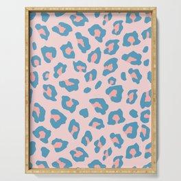 Leopard Print - Peachy Blue Serving Tray