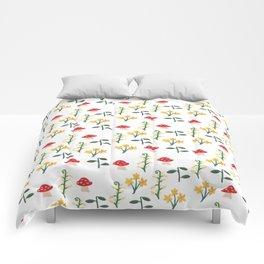 Whimsical Mushroom Garden Comforters
