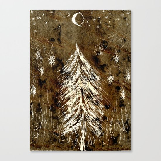 Dawn In A Burning Forest Canvas Print