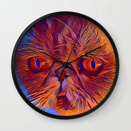 Purrplexing Wall Clock