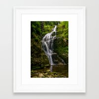 waterfall Framed Art Prints featuring Waterfall by Pati Designs