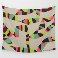 arya Wall Tapestries featuring Abstract Vintage Art by Hinal Arya