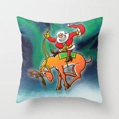 Christmas Rodeo Throw Pillow