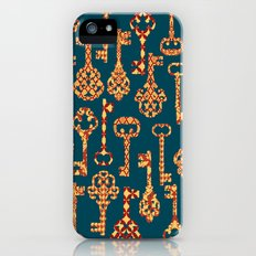 Yellow and Red Skeleton Key Pattern Slim Case iPhone (5, 5s)