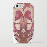 in the flesh iPhone & iPod Cases featuring Flesh&Roses by AP Illustration