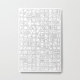Printed Pixels Metal Print