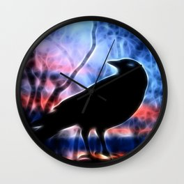 Good Morning Raven Magic Wall Clock