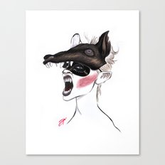 The Masquerade: The Wolf Canvas Print